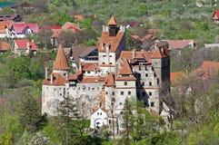 在麸皮,特兰西瓦尼亚,布拉索夫,罗马尼亚的德雷库拉的城堡 免版税库存图片