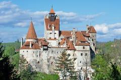在麸皮,特兰西瓦尼亚,布拉索夫,罗马尼亚的德雷库拉的城堡 免版税图库摄影