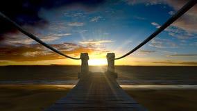 在黄昏或黎明的海洋海边 图库摄影