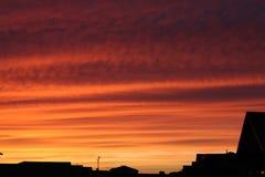 在黄昏的云彩 库存图片