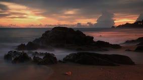 在黄昏的海景在普吉岛 库存图片