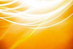 在黄色背景的抽象光 库存图片