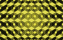 在黄色背景的抽象样式 图库摄影