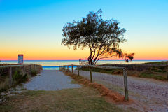 在黄金海岸,澳洲的日落 库存照片
