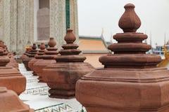 在黎明寺墙壁上的装饰  免版税库存照片
