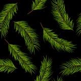 在黑地面的无缝的样式圣诞节 皇族释放例证