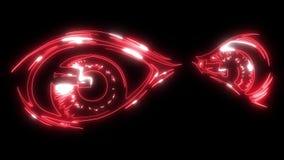 在黑暗的凶眼 恶魔般的恼怒的眼睛动画片  皇族释放例证
