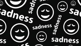 在黑暗的哀伤的smilies 股票录像