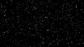 在黑暗的宇宙的聚星 库存例证