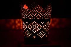 在黑暗的烛台 库存照片
