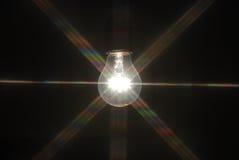 在黑暗的电灯泡 免版税库存图片