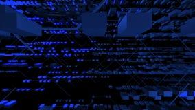 在黑暗的背景录影的光谱电镀物品 向量例证