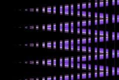 在黑暗的背景的紫外样式印刷品的 库存照片
