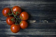 在黑暗的背景的蕃茄 免版税库存照片
