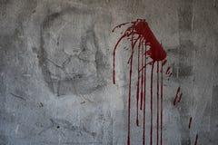 在黑暗的血淋淋的金属墙壁恐怖内容的 免版税图库摄影