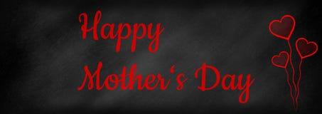 在黑板写的母亲节 免版税图库摄影