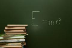 在黑板的等式 库存图片