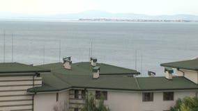 在黑海海岸的住宅复杂绿宝石在Ravda,保加利亚 影视素材