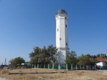 在黑海的一座灯塔 库存照片