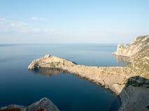 在黑海的克里米亚半岛海湾 图库摄影