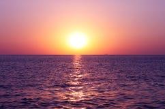 在黑海的日落 免版税库存照片