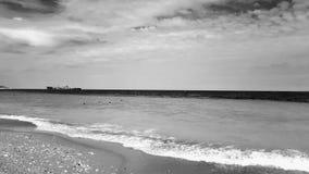在黑海的罗马尼亚风景 库存照片