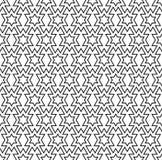 在黑白几何线的无缝的样式 免版税图库摄影