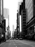 在黑白照片的多伦多Yonge街 免版税库存照片