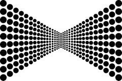 在黑白的抽象圈子样式 图库摄影