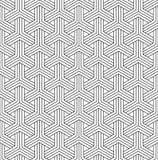在黑白的无缝的日本样式扯窗kumiko 图库摄影