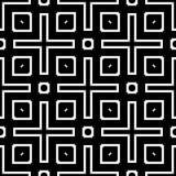 在黑白的无缝的样式背景 葡萄酒和减速火箭的抽象装饰设计 简单的舱内甲板 库存照片