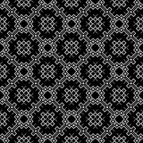 在黑白的无缝的样式背景 葡萄酒和减速火箭的抽象装饰设计 简单的舱内甲板 免版税库存图片