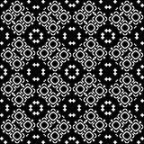 在黑白的无缝的样式背景 葡萄酒和减速火箭的抽象装饰设计 简单的舱内甲板 库存图片