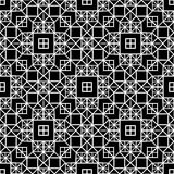 在黑白的横穿方形的窗口无缝的样式背景 皇族释放例证
