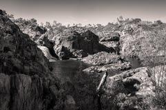 在黑白的澳大利亚风景-伊迪丝跌倒,澳大利亚 免版税图库摄影