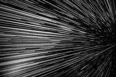 在黑白的经线速度 库存图片