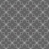 在黑白的花矩阵无缝的样式背景 库存例证