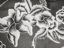 在黑白的花ilustration 库存照片