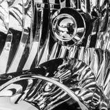 在黑白的荧光的样式 库存照片