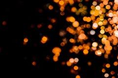 在黑背景的不可思议的光圣诞节bokeh 库存照片