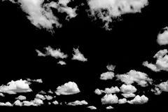 在黑背景的云彩 免版税库存图片