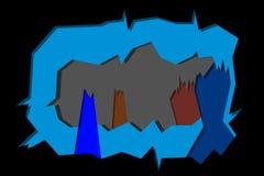 在黑背景的冻小山 库存例证