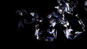 在黑背景的宝石 股票录像