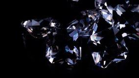 在黑背景的宝石 股票视频