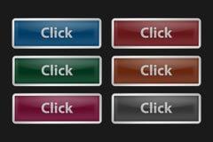 在黑背景的按钮 免版税库存图片
