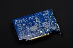 在黑背景的显示卡,个人计算机硬件 库存图片