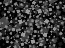 在黑背景的灰色正方形 免版税图库摄影