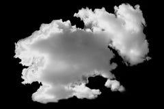 在黑背景的白色云彩 库存图片