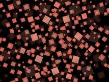 在黑背景的红场 免版税库存照片