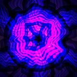 在黑背景的蓝色紫色漩涡分数维元素 火mag 库存例证